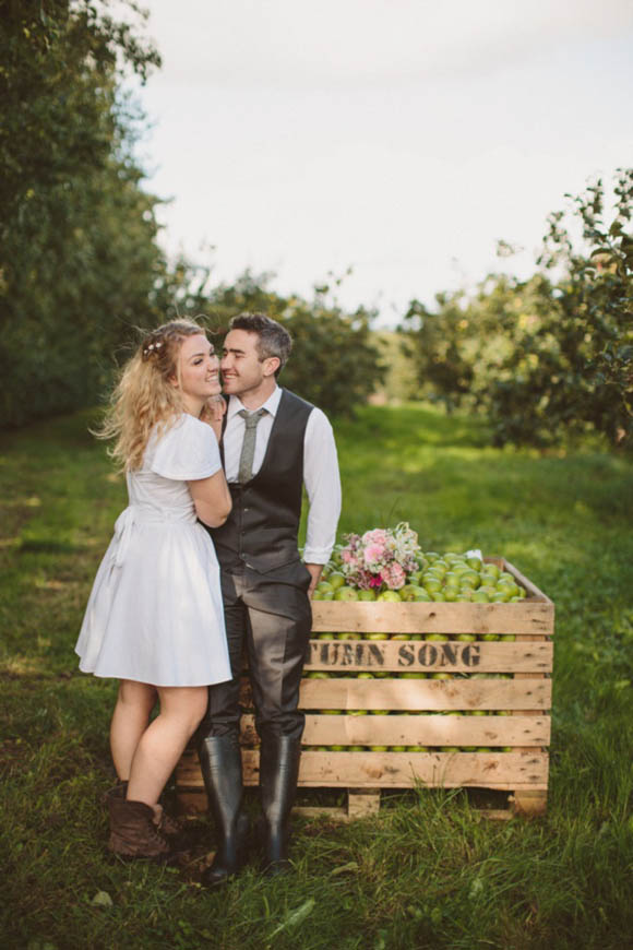 A Whirl-Wind, Intimate Apple Orchard Wedding Planned In Just 3 Weeks…