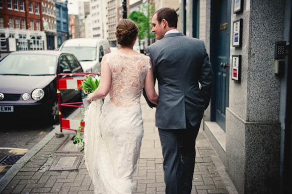 Sky Between The Branches by Claire Pettibone for a Relaxed London Wedding…