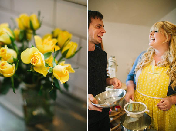 A 1950's Retro Yellow Kitchen Inspired Engagement Shoot…