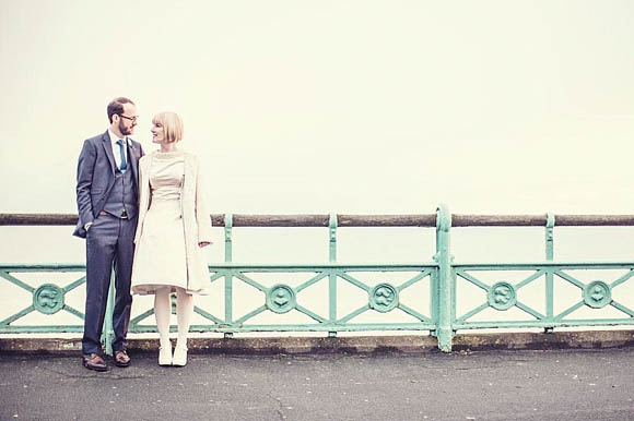 A 1960's Jackie O Inspired Wedding Dress for a Kitsch and Colourful Brighton Wedding…