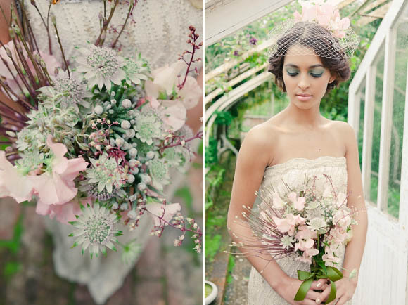 Succulents, Moss and a Touch of Gold Leaf ~ Creative and Alternative Ideas to Wedding Day Flowers…