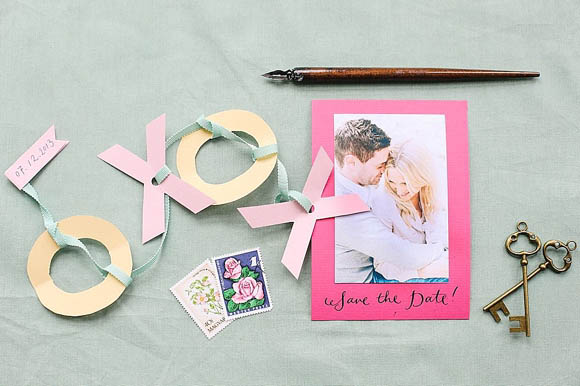 How To Create Pretty Paper XOXO Save The Date Cards