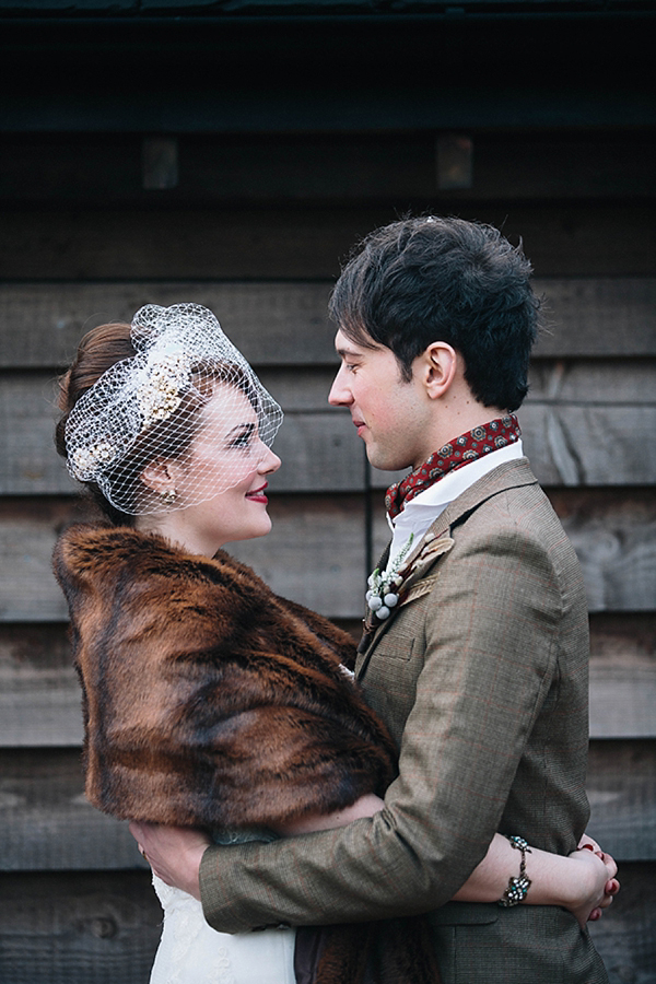 A Rustic and Vintage Inspired Winter Wedding for Two Childhood Sweethearts