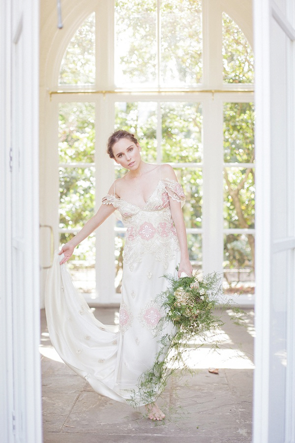 Pared Back Bridal Elegance Witih Claire Pettibone, Cymbeline and Amanda Garrett At The Orangery, Holland Park, London