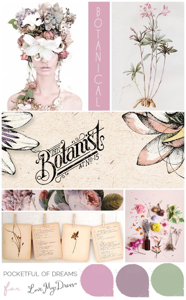 Bridal Inspiration Board #59 ~ Botanicals