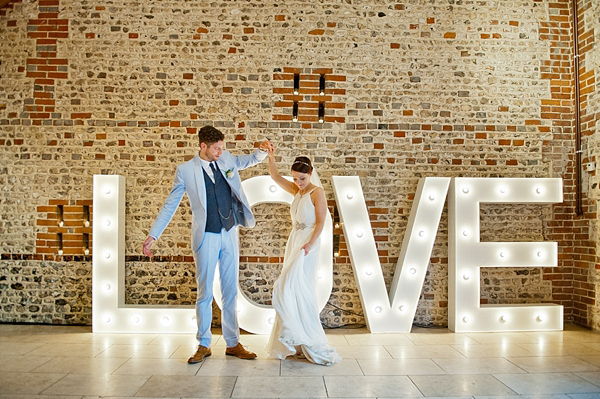 Giant Love Letters, Red Jump Suits and Pastel Blue ~ A Vintage Inspired Modern Day Love Story