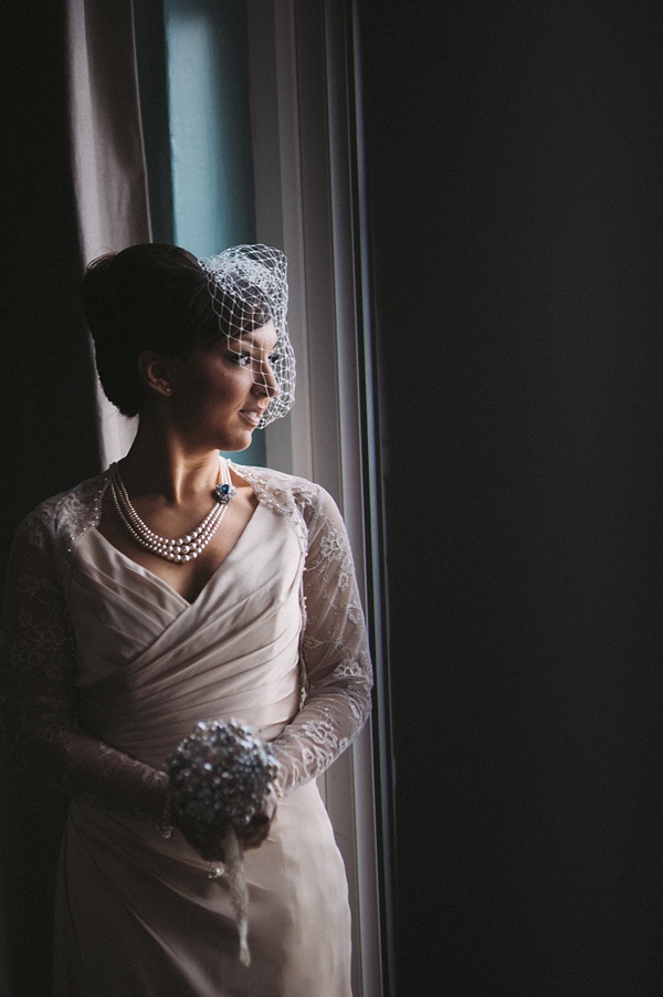 Old Hollywood Glamour for an Audrey Hepburn Inspired Bride and her Winter Wedding