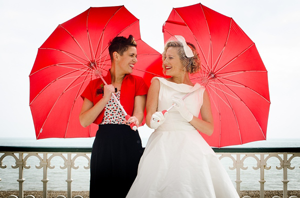 A 1950s Red, Retro and Seaside Inspired Civil Partnership