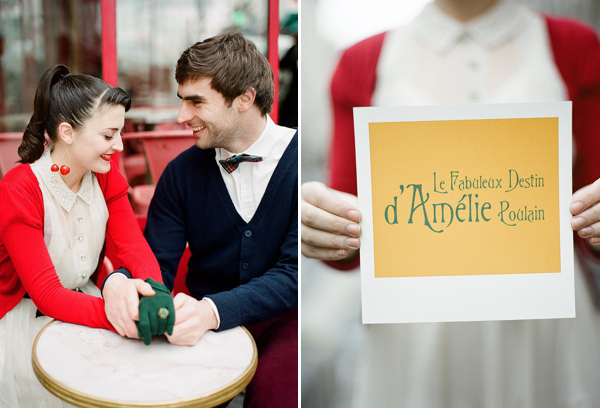 An Amelie and 1950s Inspired Parisian Bride