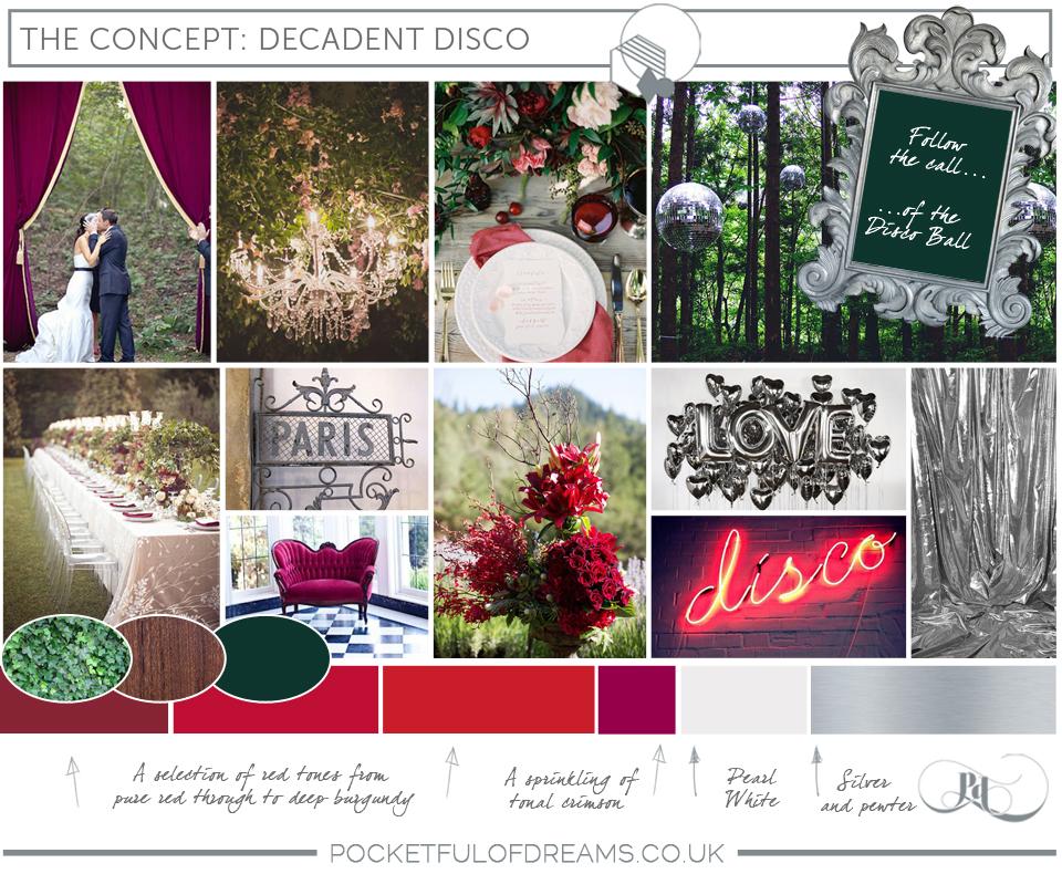 Bridal Inspiration Boards #74 ~ Decadent Disco