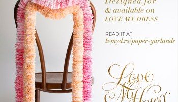 DIY Tutorial: Dipped Crepe Paper Chair Garlands