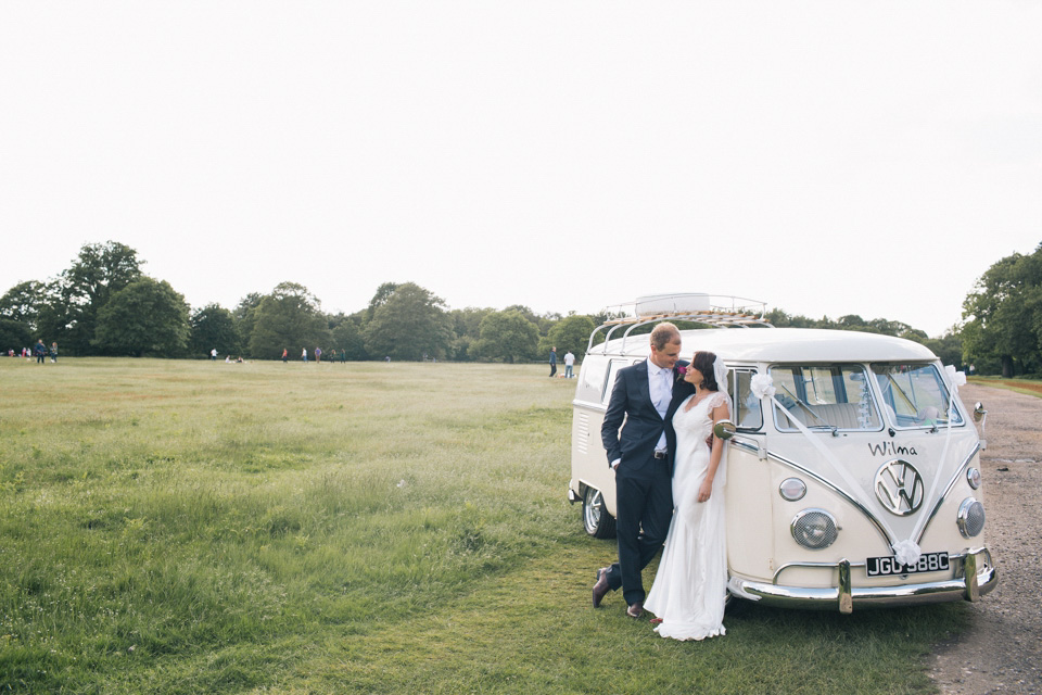 A Sarah Janks dress for an Elegant Humanist Wedding in Richmond Park (Weddings )