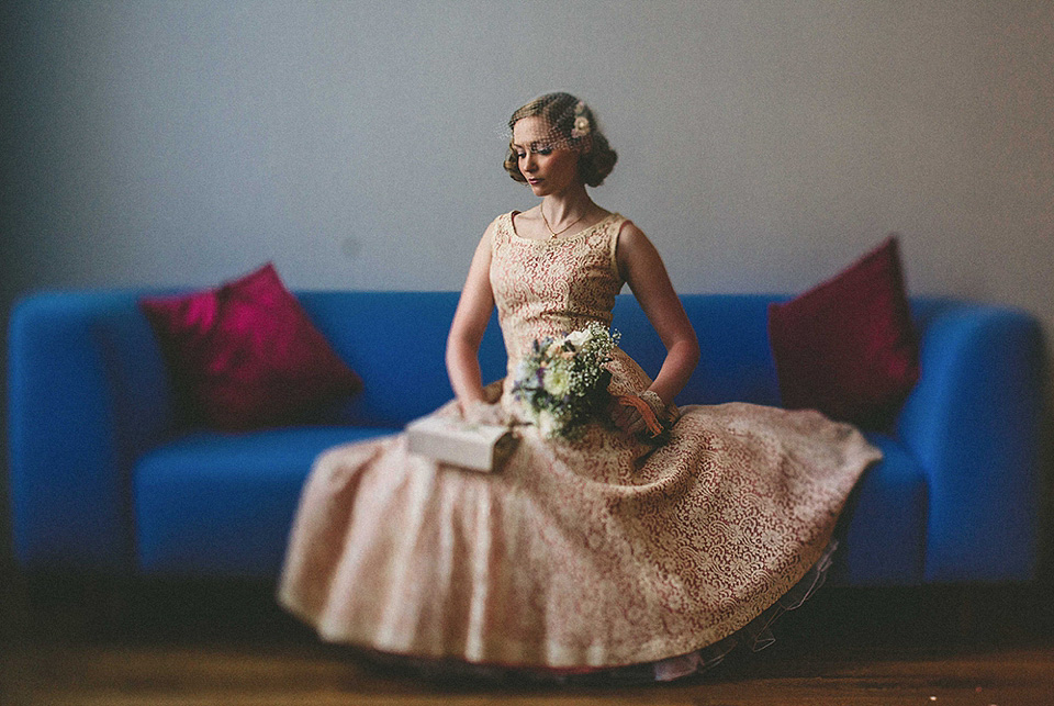 A 1950s Dress for a Second Hand Books and 1940s Vintage Inspired East London Wedding