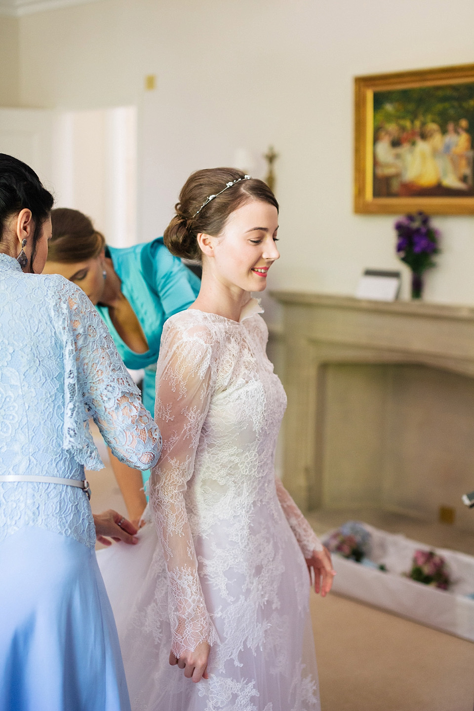 Grace Kelly Elegance and a Manuel Mota Gown for a Fairytale Wedding at Blenheim Palace (Weddings )