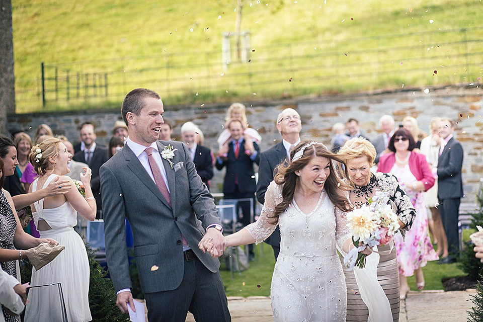 Jenny Packham Glamour for A Laid Back and Relaxed Devon Wedding
