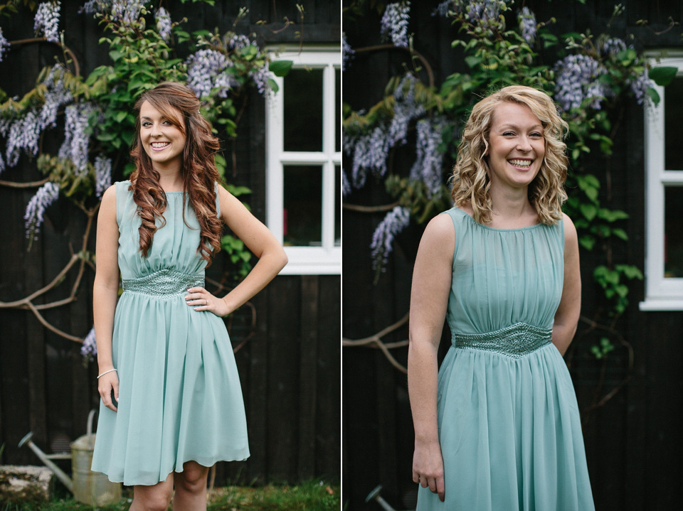 Turquoise Shoes and a Tea-Length Dress For a Festival Style Farm Wedding (Weddings )