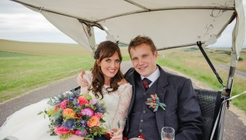 Sassi Holford Glamour for a Colourful Scottish Barn Wedding