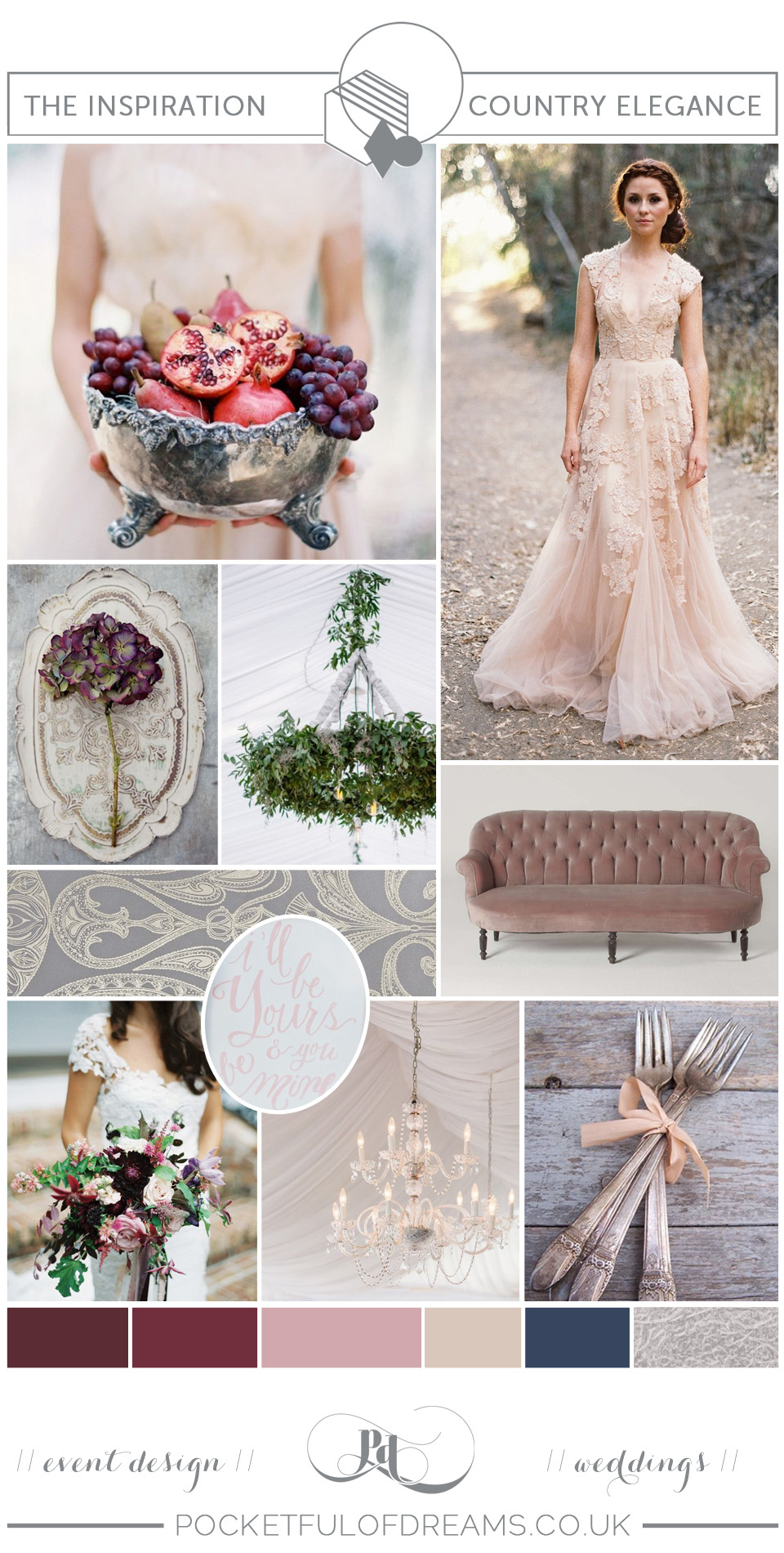 BRIDAL INSPIRATION BOARDS #77 ~ Elegant Country House Wedding (Get Inspired Mood + Inspiration Boards )