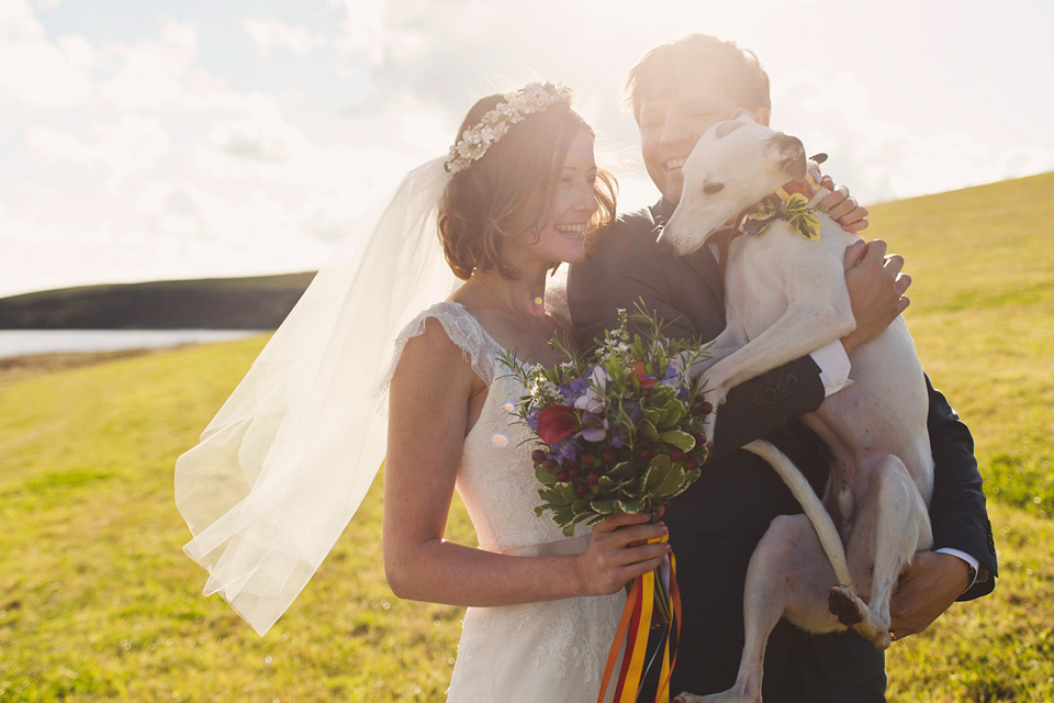 A Handsome Whippet Wedding Guest And A Colourful Cornish Seaside Celebration