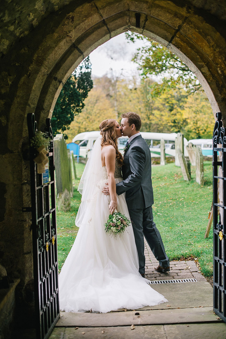 Blue Shoes and a Maggie Sottero Gown for a Rustic Inspired, Elegant Country Wedding in Yorkshire (Weddings )