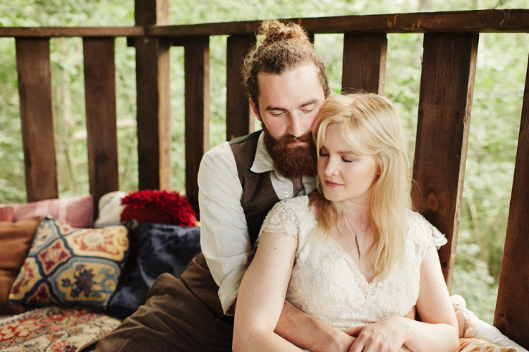 Two Childhood Sweethearts and Their Handmade, Rustic, Folk-Scene Inspired Woodland Wedding