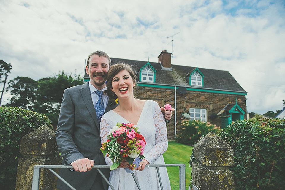 A Fifties Vintage Tea Length Dress for a Festival Inspired Wedding