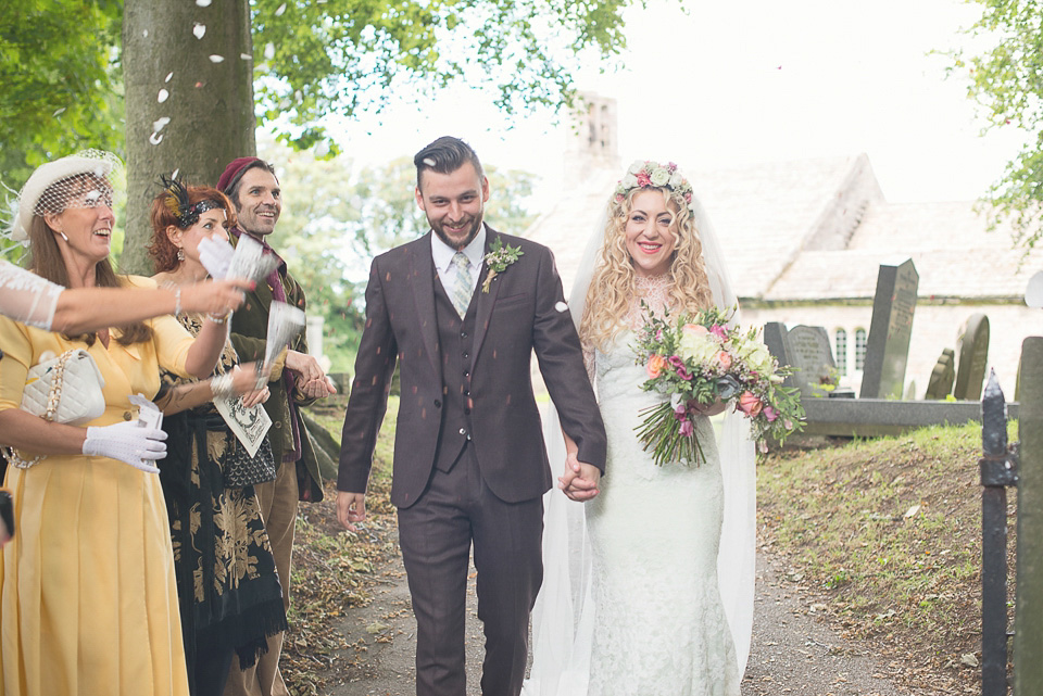 A Pretty Pale Green Wedding Dress for an Owl and the Pussycat Inspired, Homespun, Back Garden Wedding