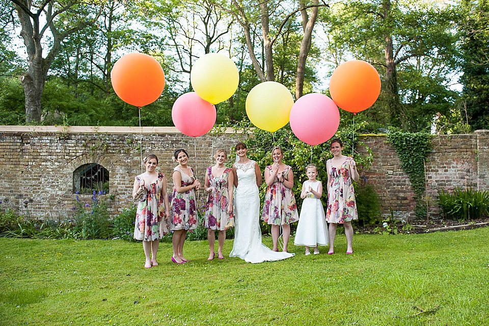 Kate Spade Sparkle and Giant Balloons for a Handmade, Rustic Garden Party Wedding