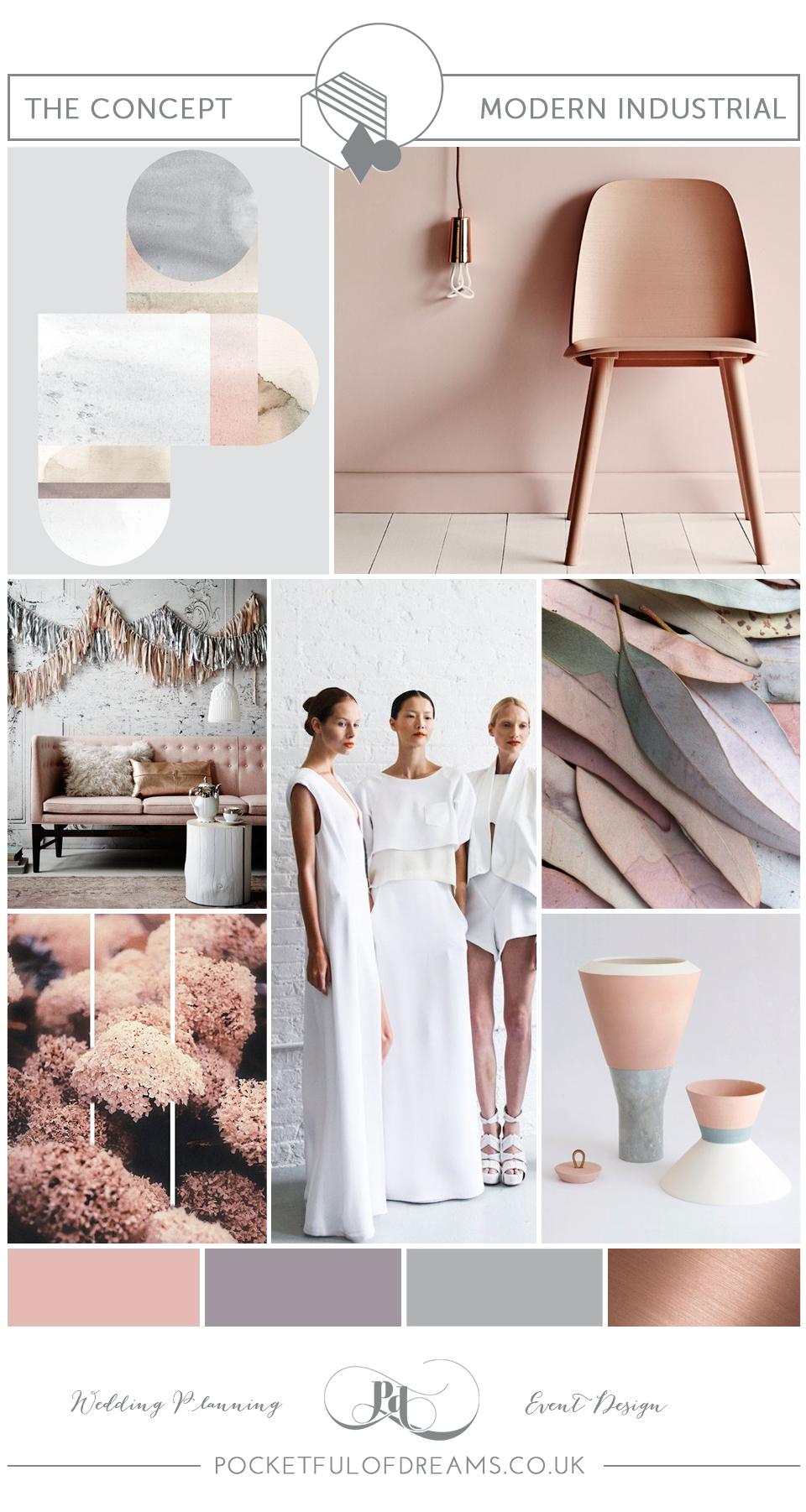 Bridal Inspiration Boards #79 ~ Modern Industrial Style Wedding Decor