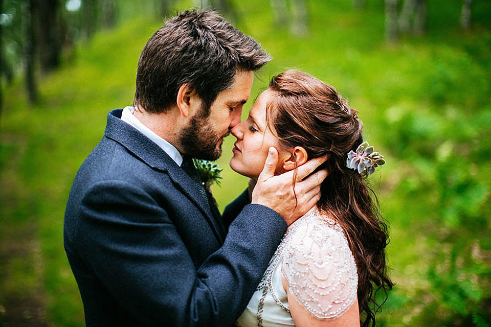 An Atmospheric Handfasting Wedding in the Remote Scottish Highlands With Tipis, Tutus and Quirky Antler Decor