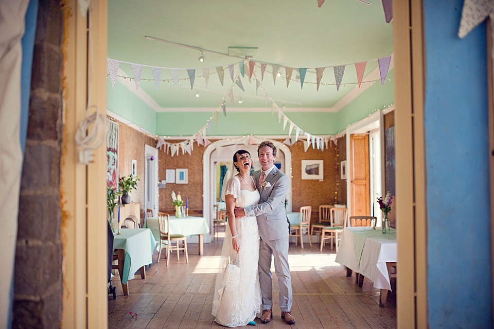 Anoushka G, Lavender and Pretty Pastel Shades for an Intimate Family Seaside Wedding