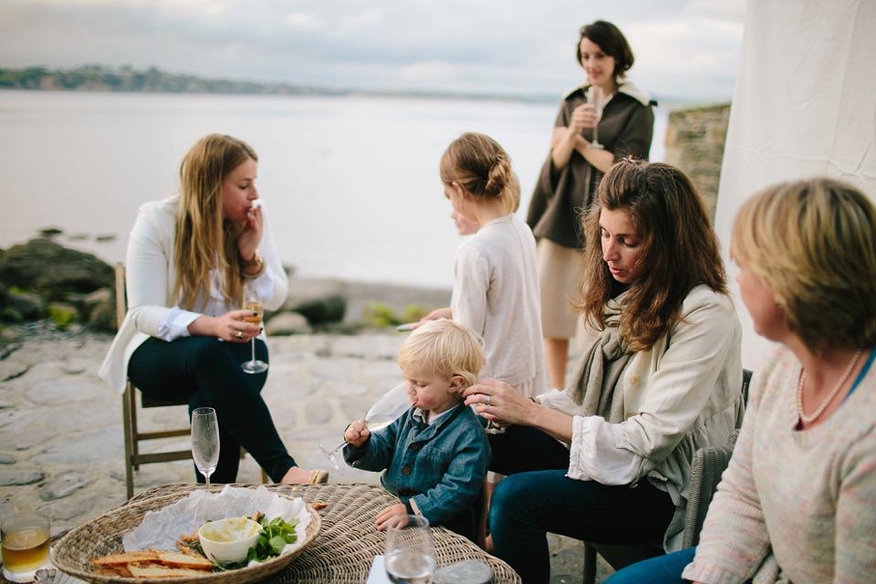 Wildflowers and Vintage Kimono Silk Shoes for Cornish Coastline Wedding (Weddings )