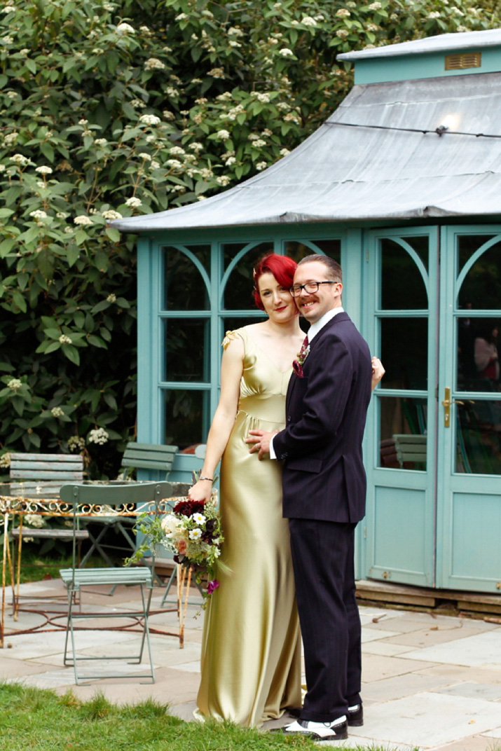 A Gold Wedding Dress for a Glamorous, Vintage Inspired Walcot Hall Celebration (Weddings )