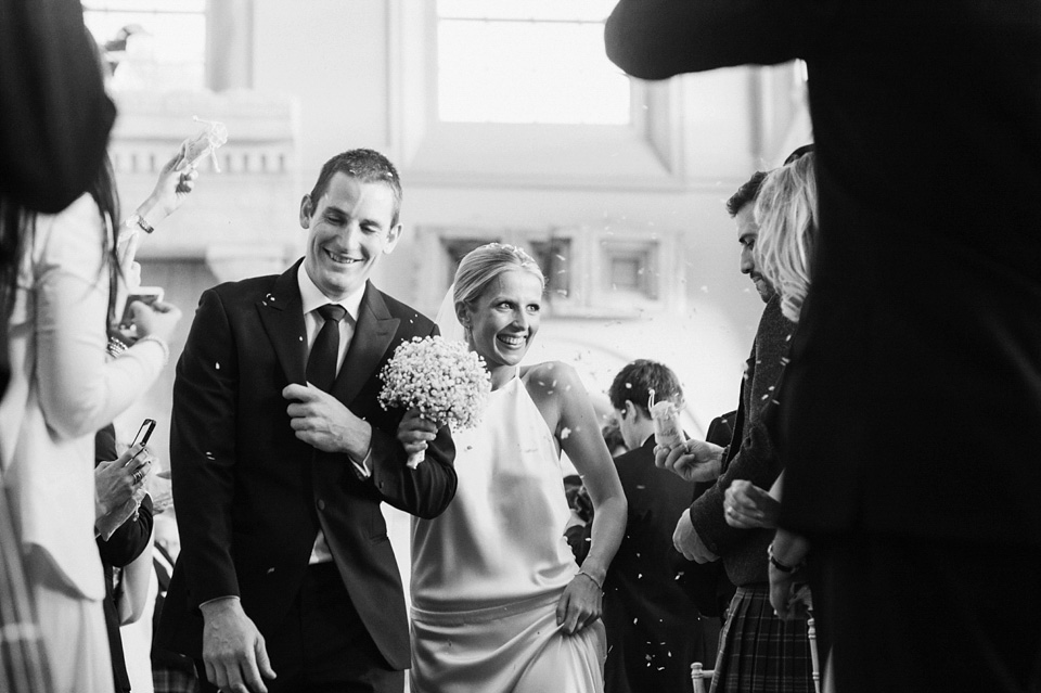 A Chic and Backless Delphine Manivet Gown for a Glamorous Country House Wedding