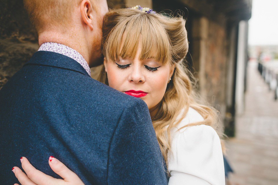 Victory Rolls and a 1940's Gown for a Modern Vintage Wedding