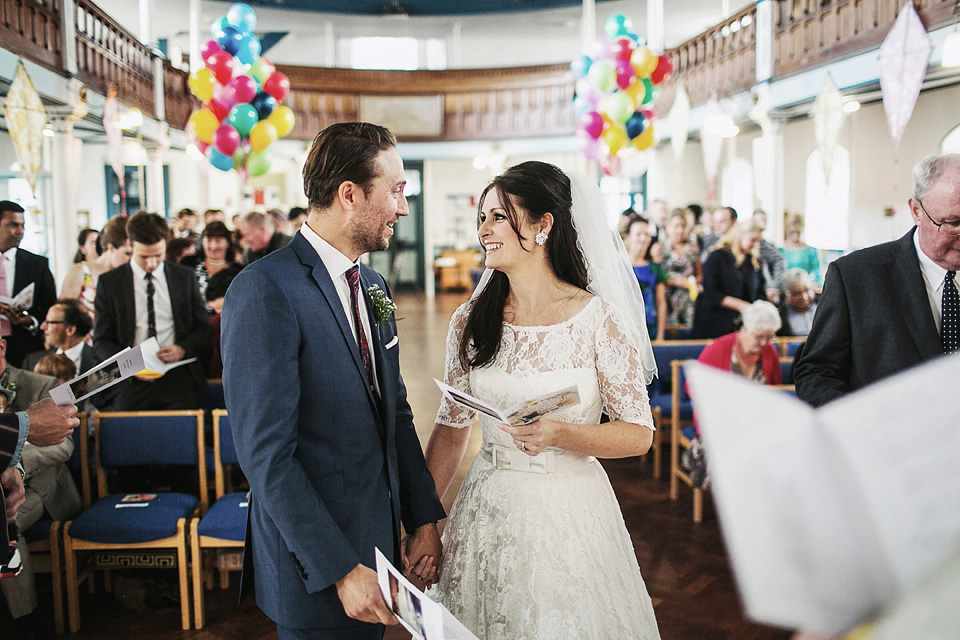 A Fabulous Vintage Bride and her Kitsch and Colourful 1960's Inspired Brighton Wedding (Weddings )