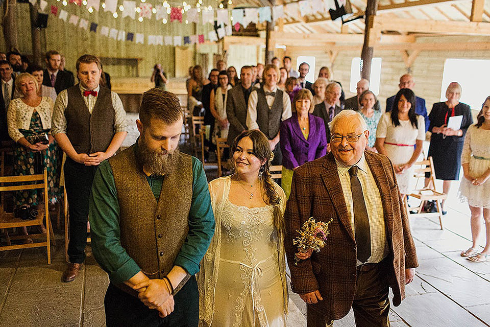 A Boho Bride and her Handmade and Quirky, Rustic Autumn Barn Wedding (Weddings )