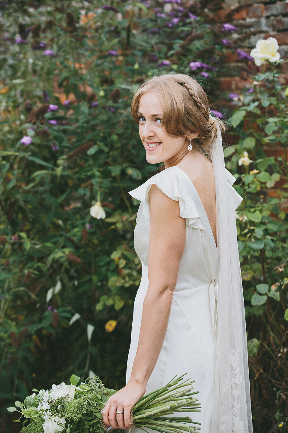 An Elegant Halfpenny London Gown for A Fun and Relaxed Art Deco Inspired Wedding