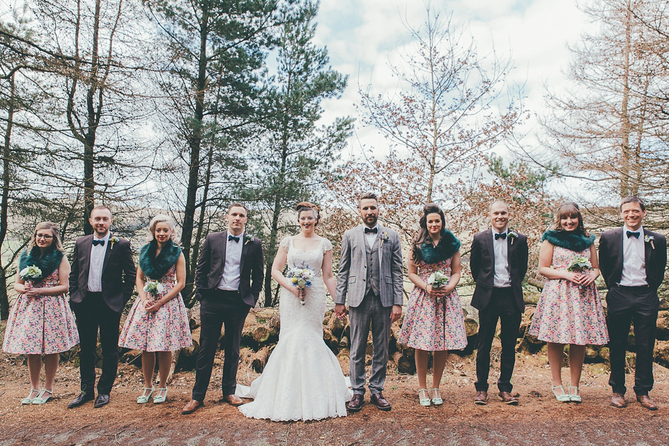 Faux Wedding Flowers and Floral Frocks