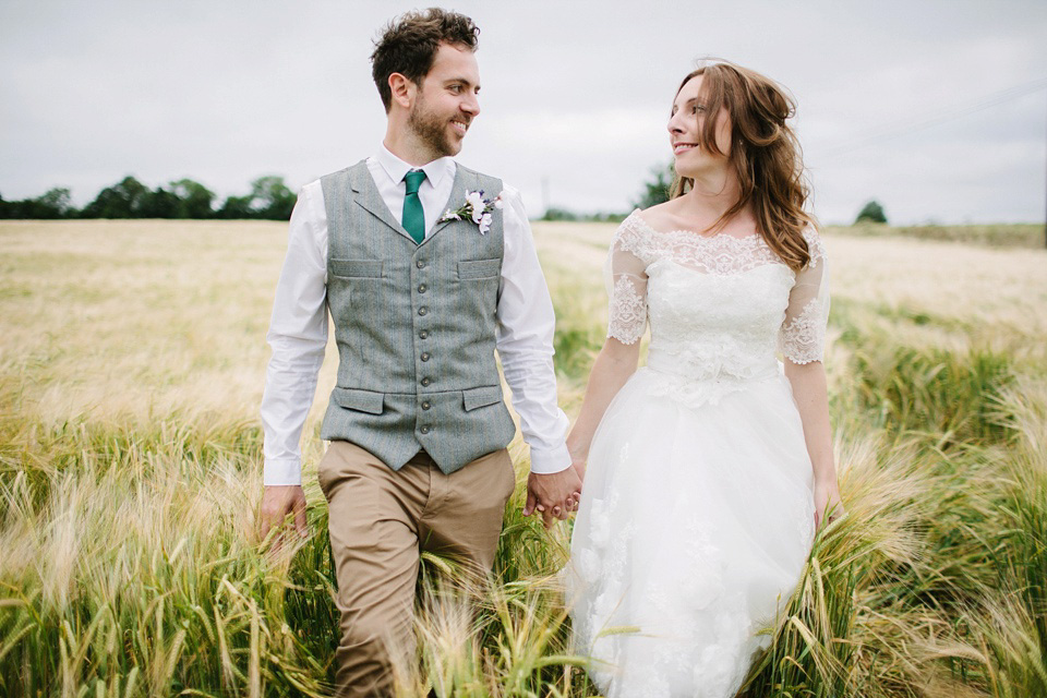 Maggie Sottero Lace For a Homespun, Handcrafted and Flower Filled Wedding