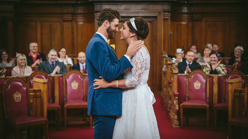 A 50s Vintage Inspired Dress for a Charming East London Wedding