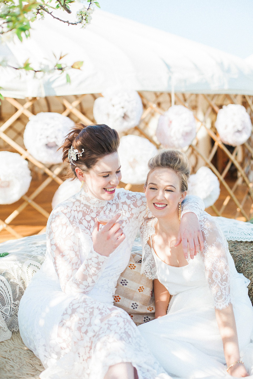 Wedding Yurts: Spring and Summer Boho Luxe Glamour in Festival Bride Style