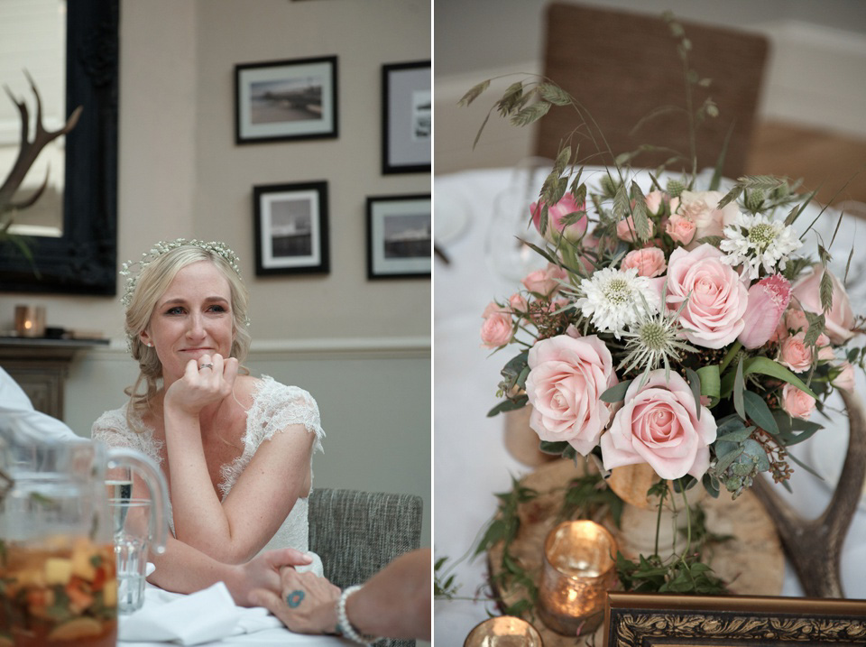 A First Look for a Pretty Pink Spring Time in the Woods Inspired Wedding (Weddings )