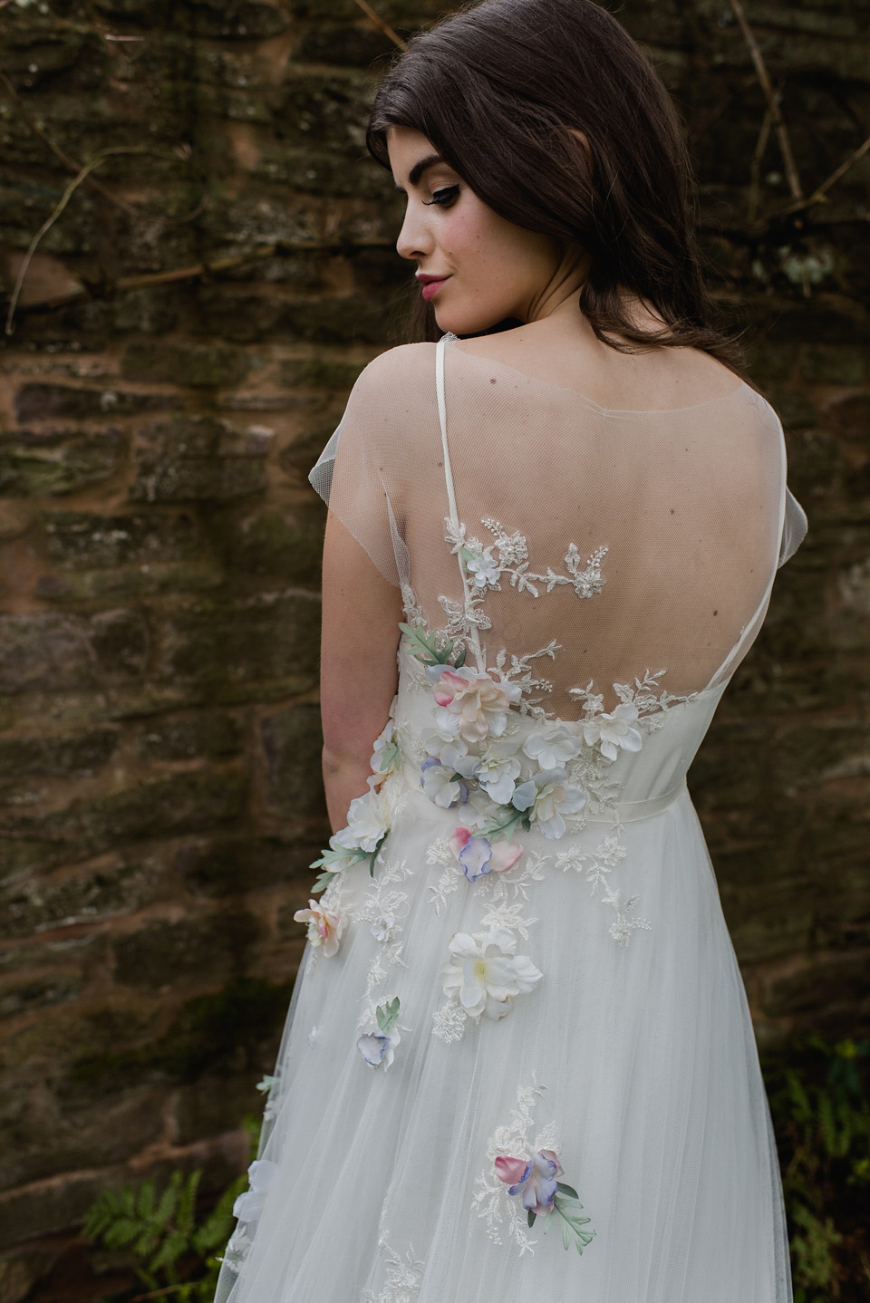 Floral wedding dresses beauteous bridal details and for Wedding dress made of flowers