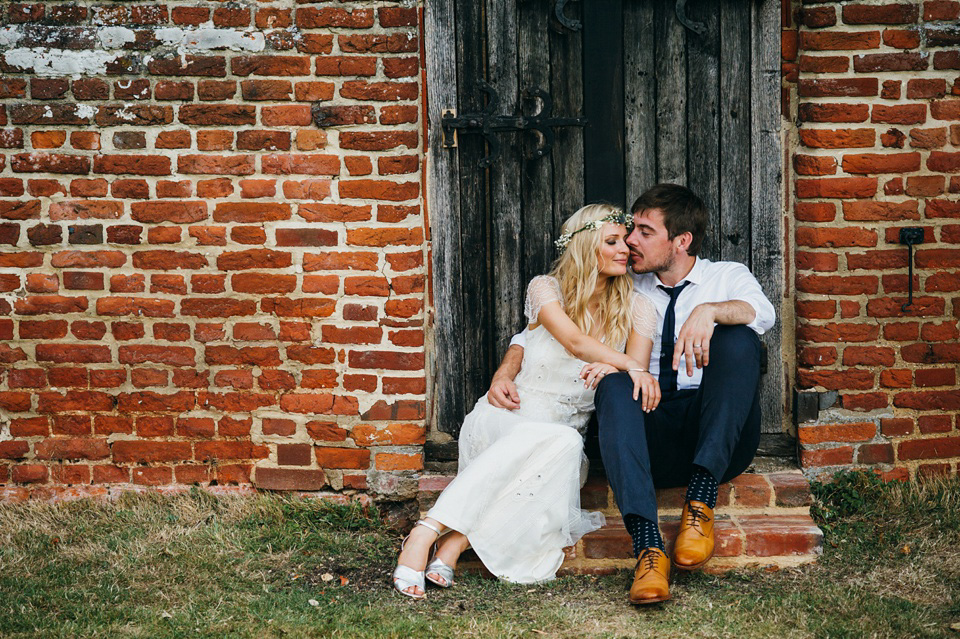 A Pretty Pale Blue Summer Country Barn Wedding