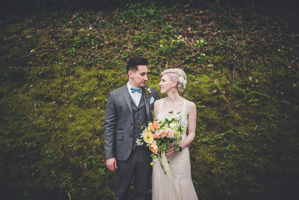 Shades of Peach and Yellow for a Handmade Spring Wedding in Cornwall