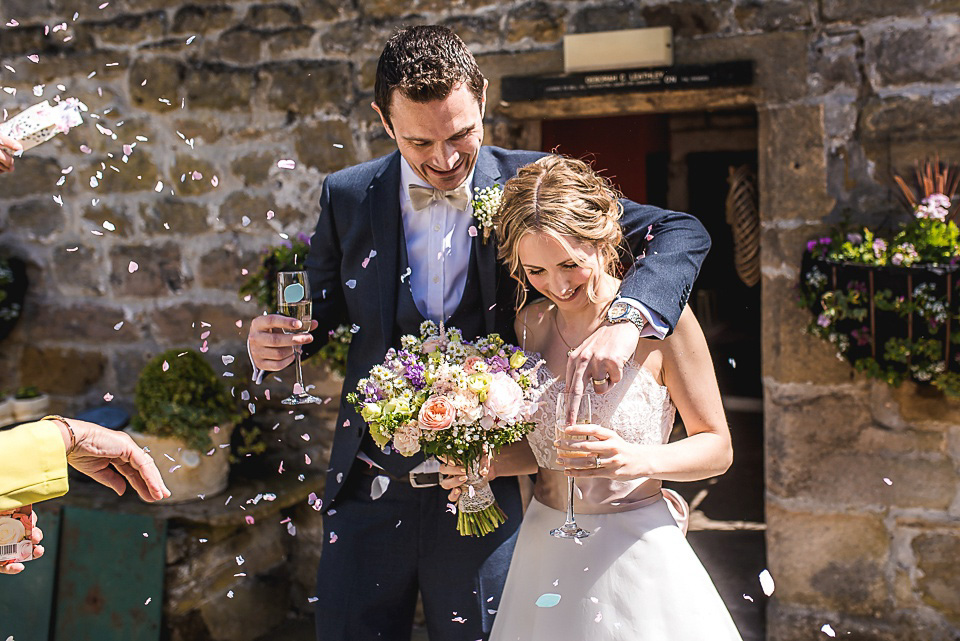 Spring Pastel Shades and Daisies for a Handmade Yorkshire Barn Wedding