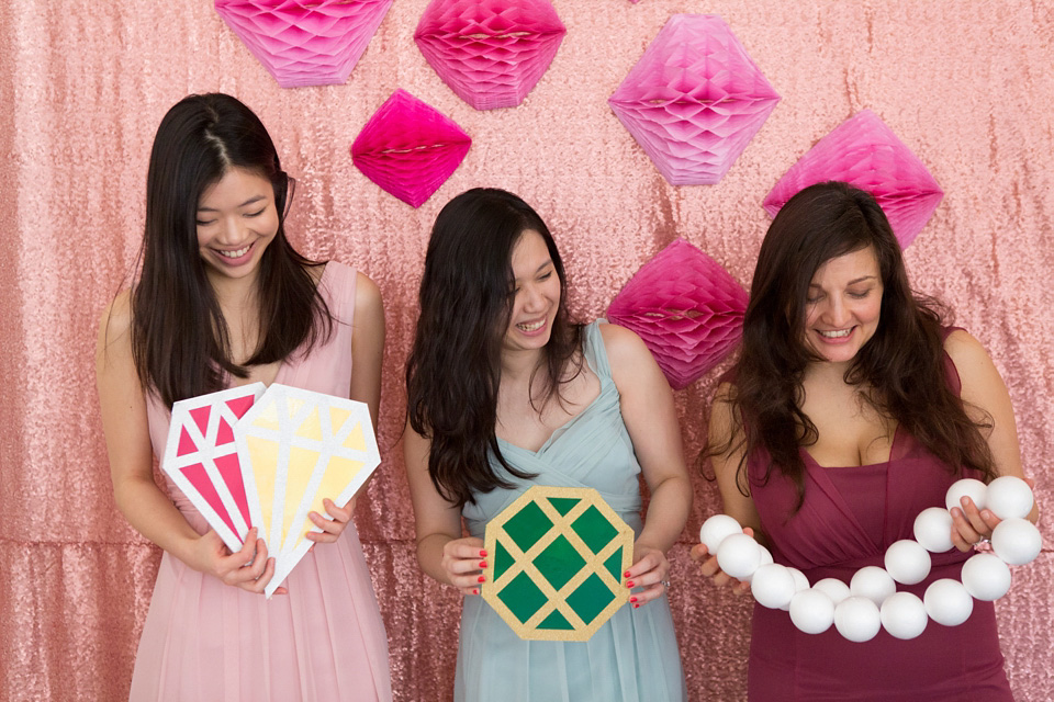 How To Make Giant Gem Photo Props (For Your Engagement Party/Bridal Shower)