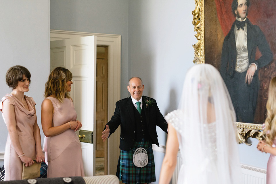 An Anna Campbell Gown and Military Regalia for a Humanist Scottish Castle Wedding (Weddings )