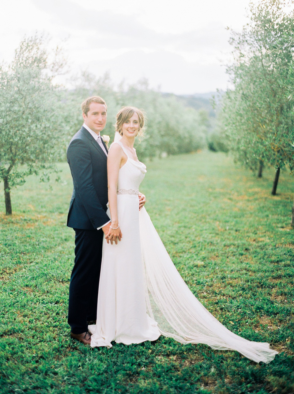 A Fiat 500 and Stephanie Allin Gown for an Elegant Italian wedding